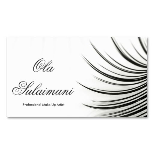Minimalistic eyelash extensions business card business cards pinterest paper eyelash for Eyelash extension business cards