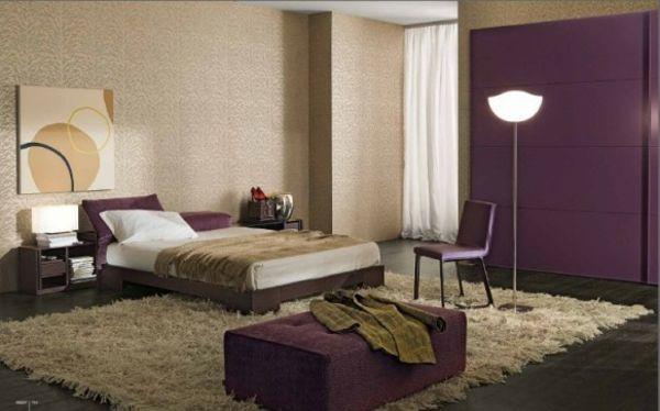 dunkel-lila-schlafzimmer-doppelbett | deko | pinterest | dunkel