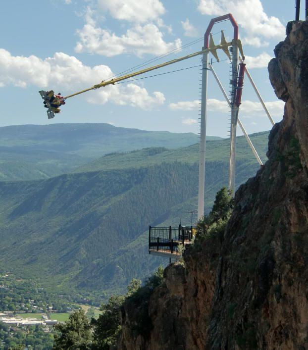 Things to Do in Colorado in Summer: Glenwood Caverns Adventure Park: Giant Canyon Swing