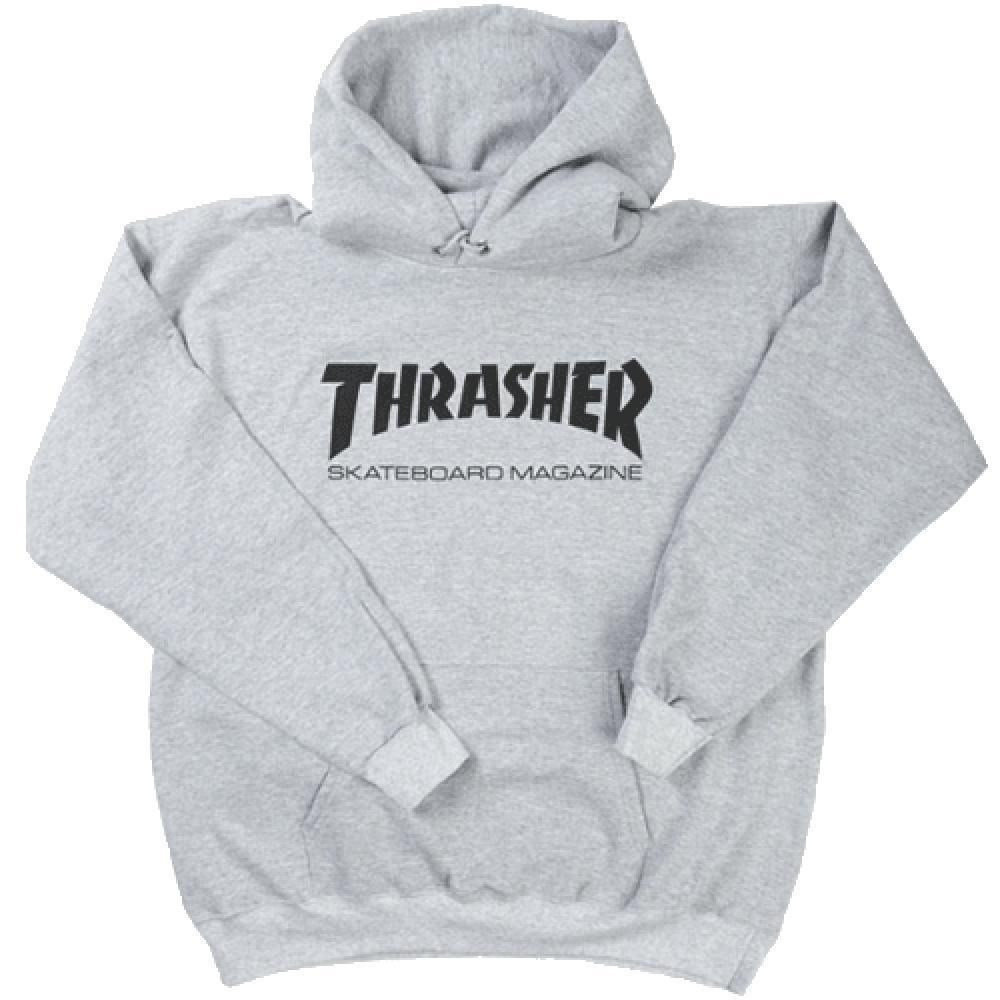 6bec66702204 Thrasher Skate Mag Logo Hoodie - Grey Heather