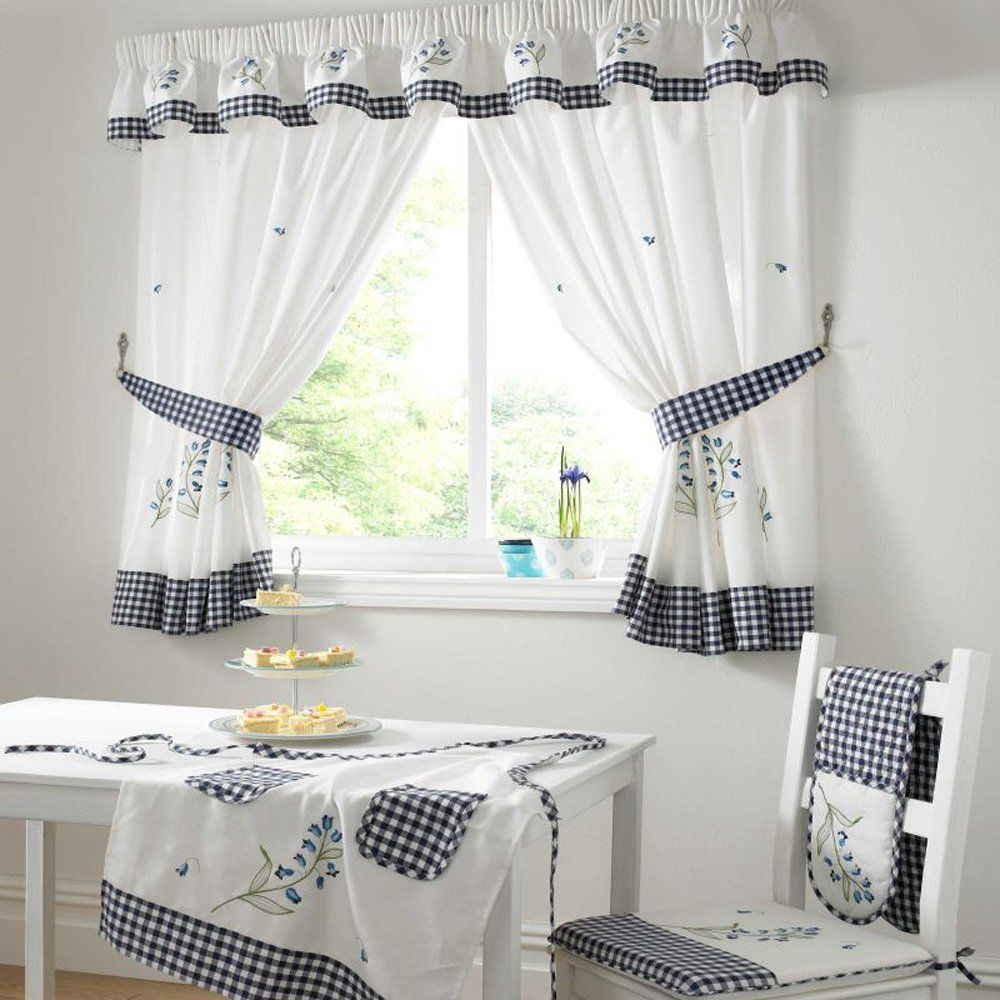 kitchen curtains premium quality bluebell kitchen curtains - Kitchen Curtain