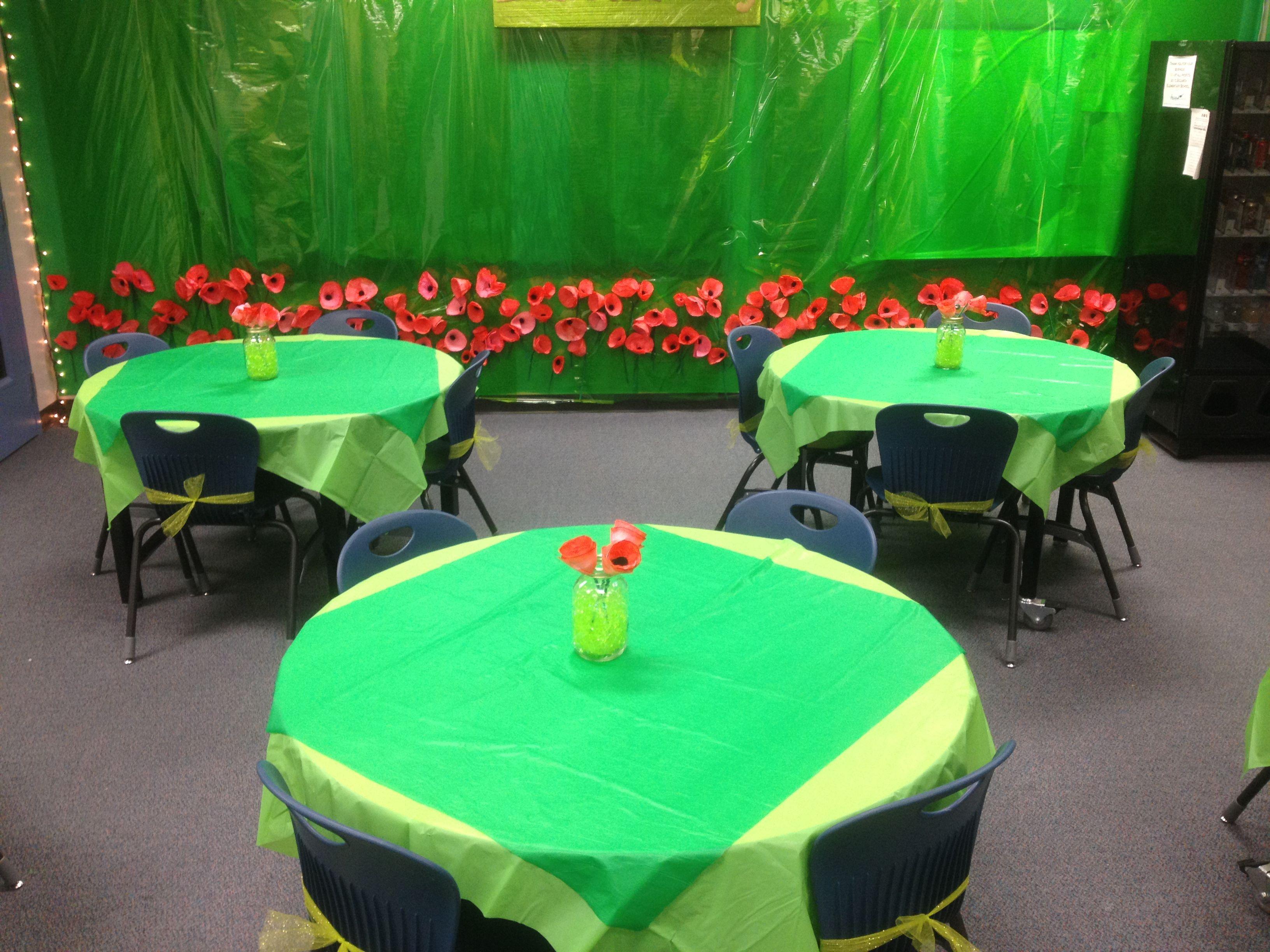 Wizard Of Oz Teacher Appreciation Week Easy Table Decor I Used A