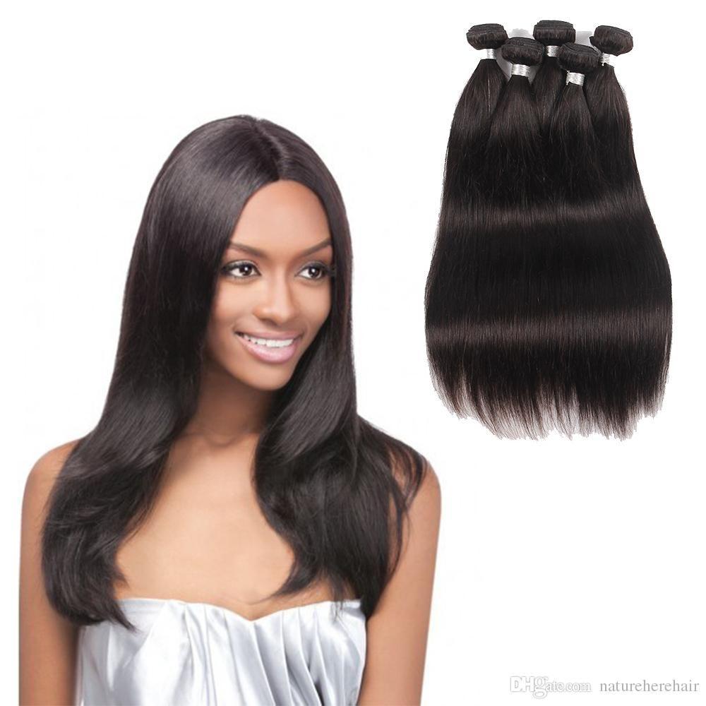 Brazilian Straight Virgin Hair Bundles Malaysian Human Hair Weaves