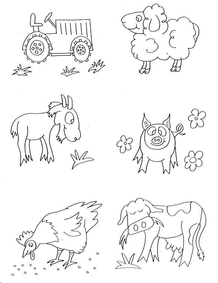 It is a graphic of Sweet farm animal free coloring images