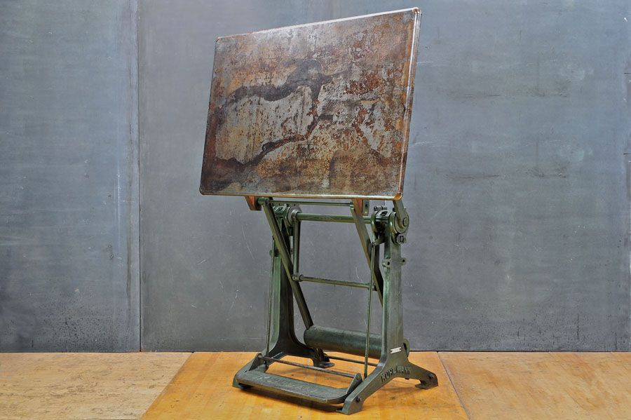 Kuhlmann Drafting Table Steel Rolled : Modern50 Washington
