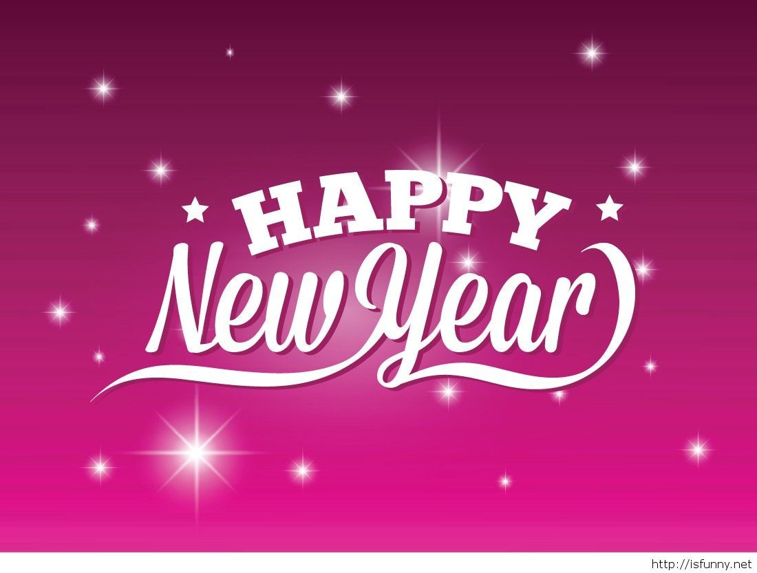 Pink Happy New Year Simple Wallpaper Funny Picture Happy New Year