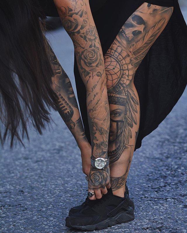 Tattooed model and fashion blogger Sammi Jefcoate #