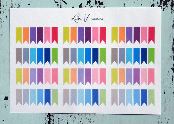 This set includes 72 mini flag stickers that are .75 x .25.    They are printed on matte sticker paper. Plans are never permanent so why should
