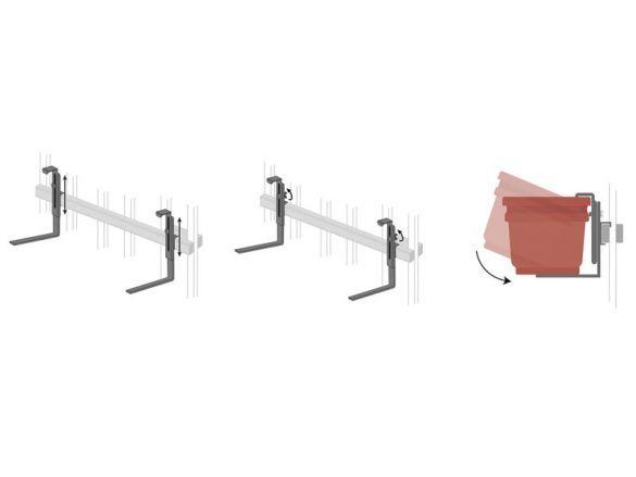 Rail Planter Box Bracket Adjustable Pair   Brackets For Deck Railings    Window Box Brackets,