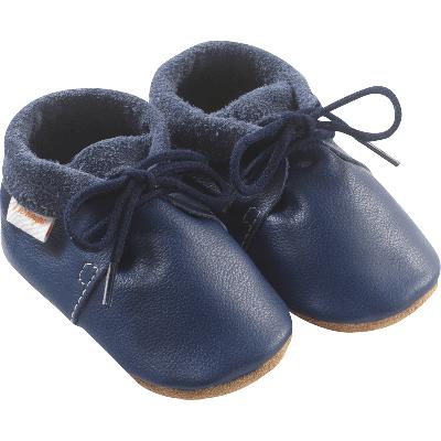 chaussures-bebe-cuir-souple-marine-profil