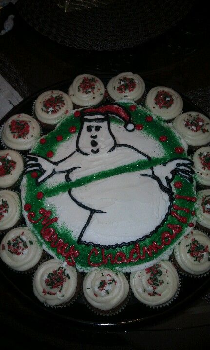 Ghostbusters pull apart cupcakes! Happy birthday Chad :) Cake by