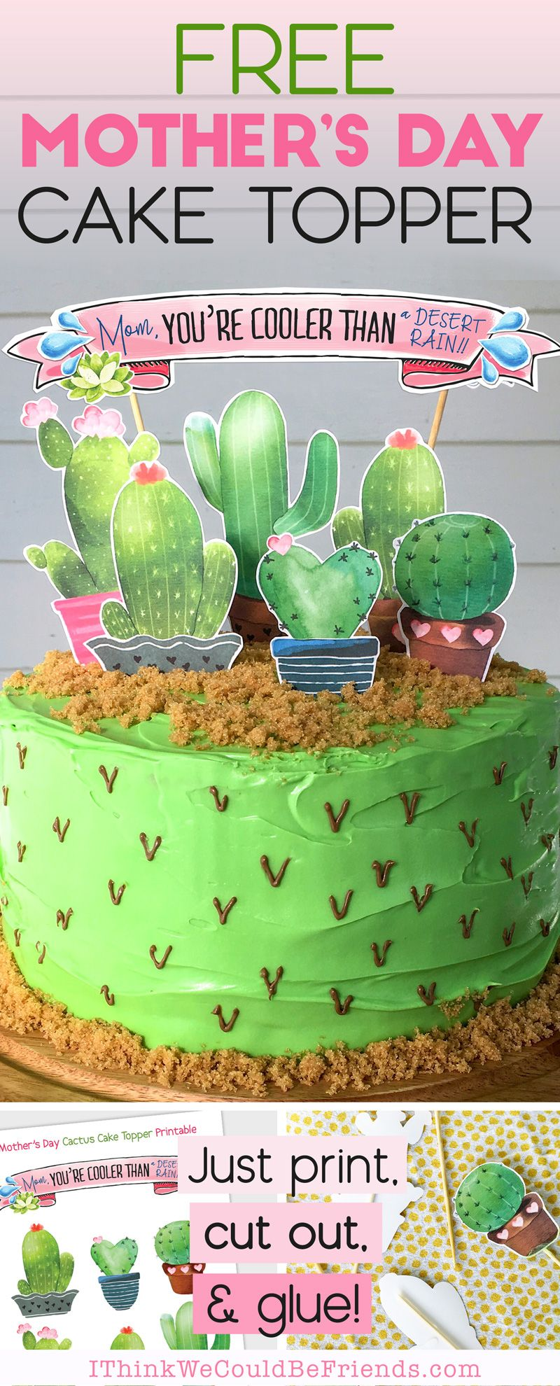 Custom Cactus Cake Topper