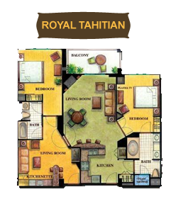 Floor Plan Of Royal Tahitian Room At Tahiti Village