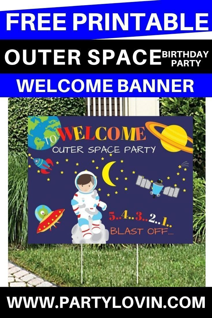 FREE PRINTABLE OUTER SPACE BIRTHDAY PARTY #outerspaceparty FREE PRINTABLE - Outer Space - Out of this World Birthday Party Printable - If you're searching the galaxy for awesome outer space birthday party printable you've come to the right place. We are absolutely *over the moon* about this Outer Space printable!!! Download these at Partylovin.com #outerspaceparty FREE PRINTABLE OUTER SPACE BIRTHDAY PARTY #outerspaceparty FREE PRINTABLE - Outer Space - Out of this World Birthday Party Printa #outerspaceparty