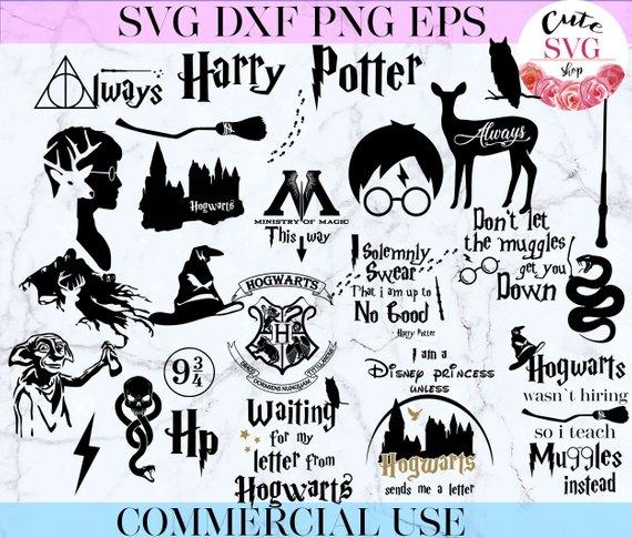 Harry Potter Svg Harry Potter 25 Bundle Harry Potter Pack Svg Files Insant Download Hogwarts Wasnt H Harry Potter Harry Potter Cartoon Diy Screen Printing