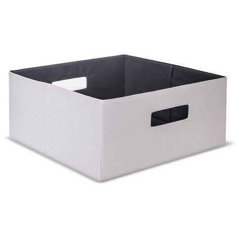 Threshold™ Half-Size Fabric Cube Storage Bin - Sand  sc 1 st  Pinterest & Threshold™ Half-Size Fabric Cube Storage Bin - Sand | organizer idea ...