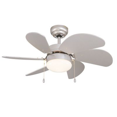 Ventilatore Da Soffitto Con Luce Tenerife Grigio Argento Bianco Prezzi E Offerte Online Leroy Merlin Ceiling Fan Ceiling Ceiling Lights