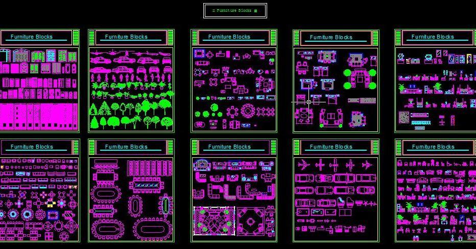 Fabuleux Une grande bibliothèque de blocs Autocad dwg | AutoCAD OV31