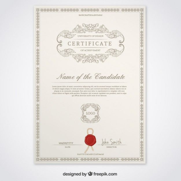 freepic pinterest certificate free certificate template 52 free printable certificate template examples in pdf word free award certificate templates word free blank training yelopaper Images