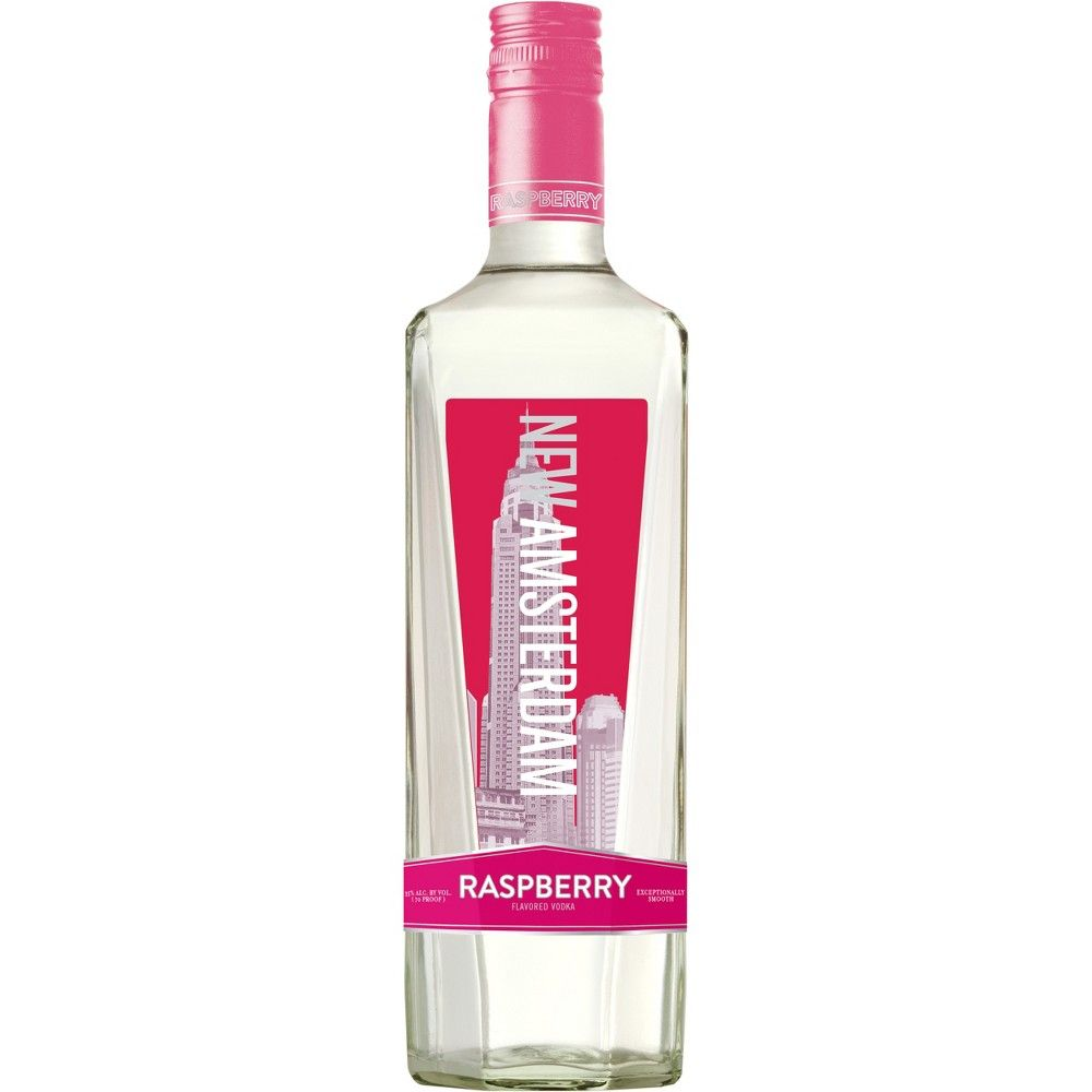 New Amsterdam Raspberry Flavored Vodka 750ml Bottle Raspberry