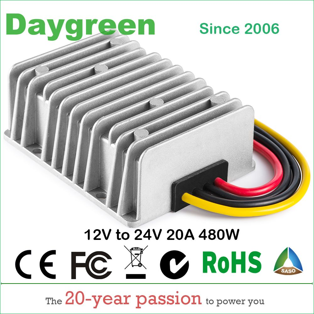 12v To 24v 20a 12vdc To 24vdc 20amp Step Up Boost Dc Dc Regulator 20 Amp 500watt Daygreen Quality Product Dc Dc Converter Voltage Regulator Converter