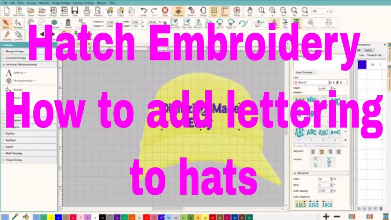 Learn to Digitize: Hatch Embroidery How to add lettering to