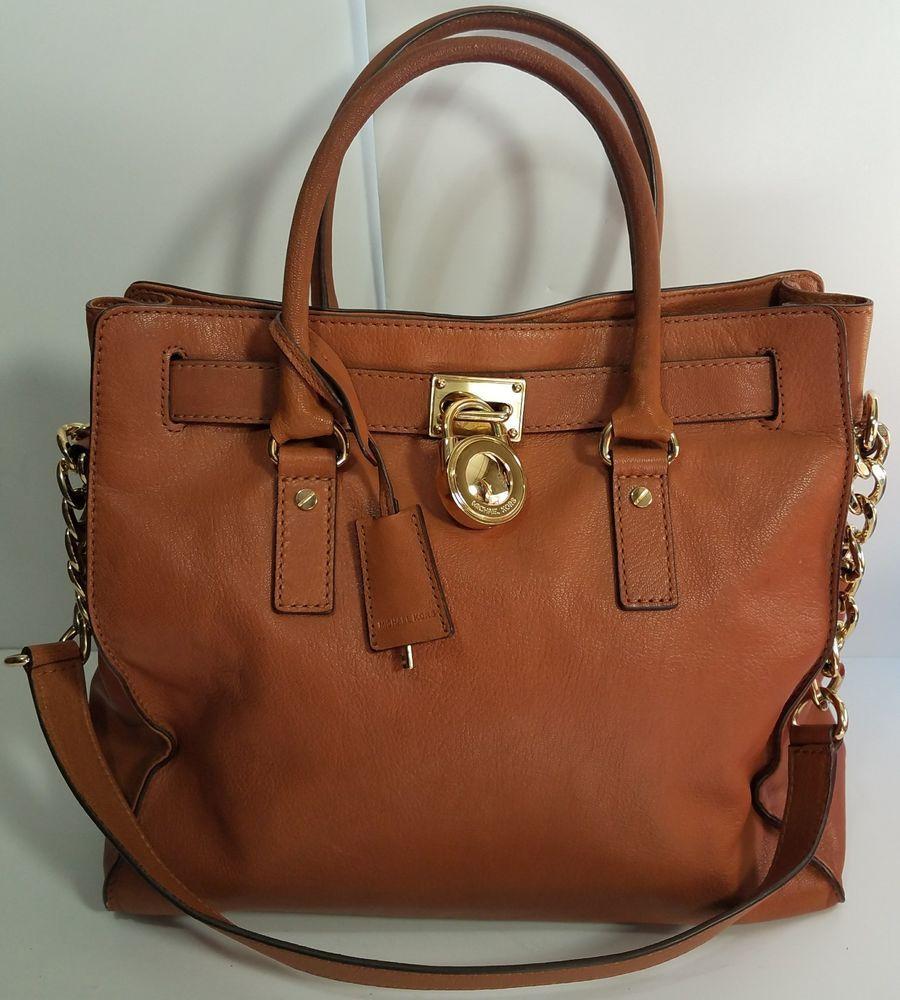 91e70d851eb1 Michael Kors Large Tote British Tan Lock & Key Hamilton Handbag Shoulder Bag  | Clothing, Shoes & Accessories, Women's Handbags & Bags, Handbags & Purses  ...