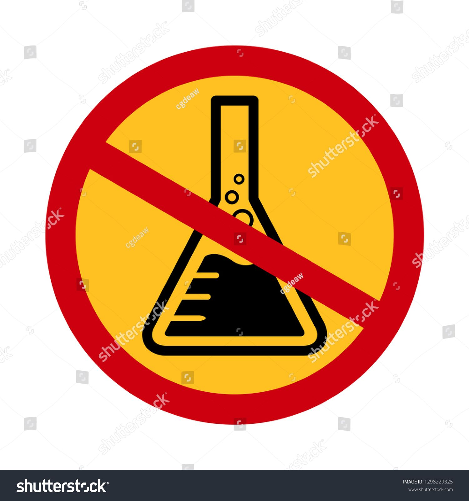 Chemicals Free Symbol Danger Chemicals Warning Sign Chemical Safety Mercury Free Icon In Red Crossed Circle For Chemical Free Chemical Safety Photos For Sale