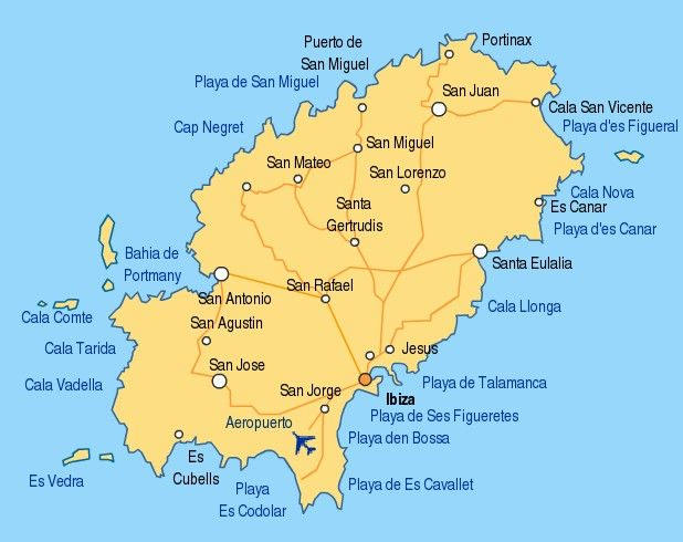 Big Map Of Spain.Ibiza Map The Big Day Ibiza Map Ibiza Island Ibiza