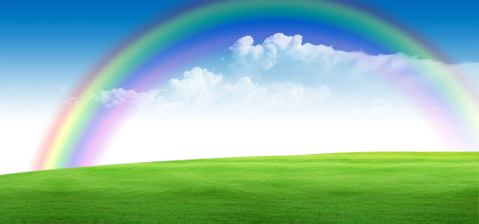 Blue Sky Rainbow Background Scenery With Images Rainbow