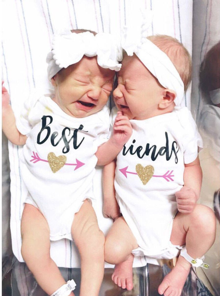 e2903c8d5 Twin Best Friends Baby Outfit