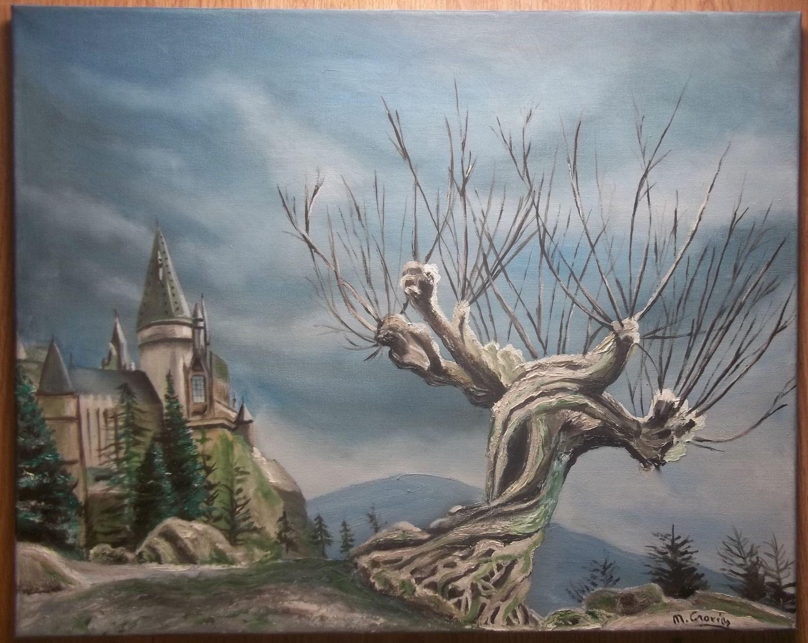 Tableau peinture huile sur toile saule cogneur harry for Tableau peinture contemporain