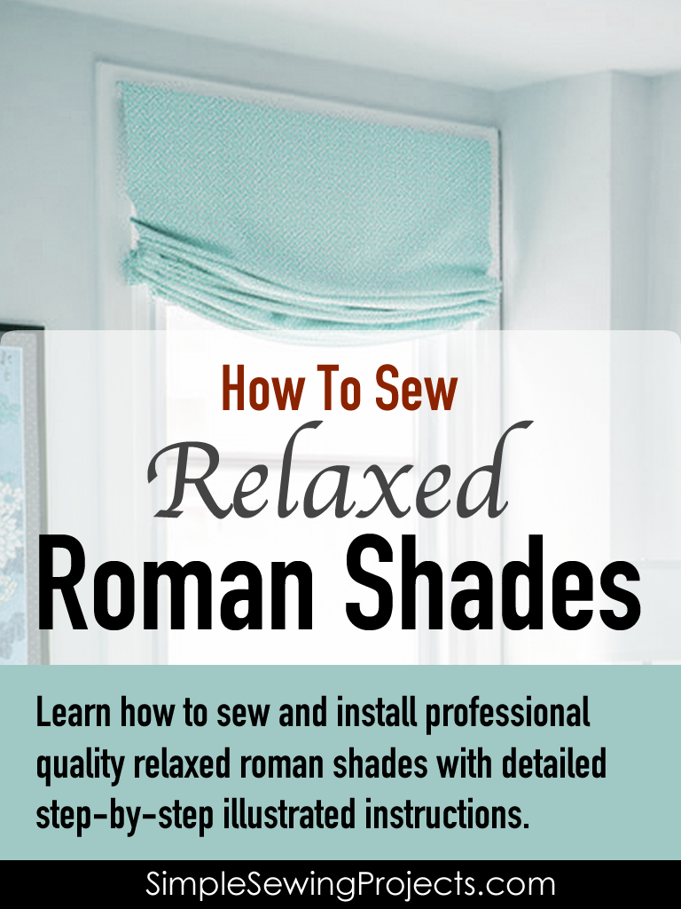 How To Sew A Relaxed Roman Shade E Book E Books No