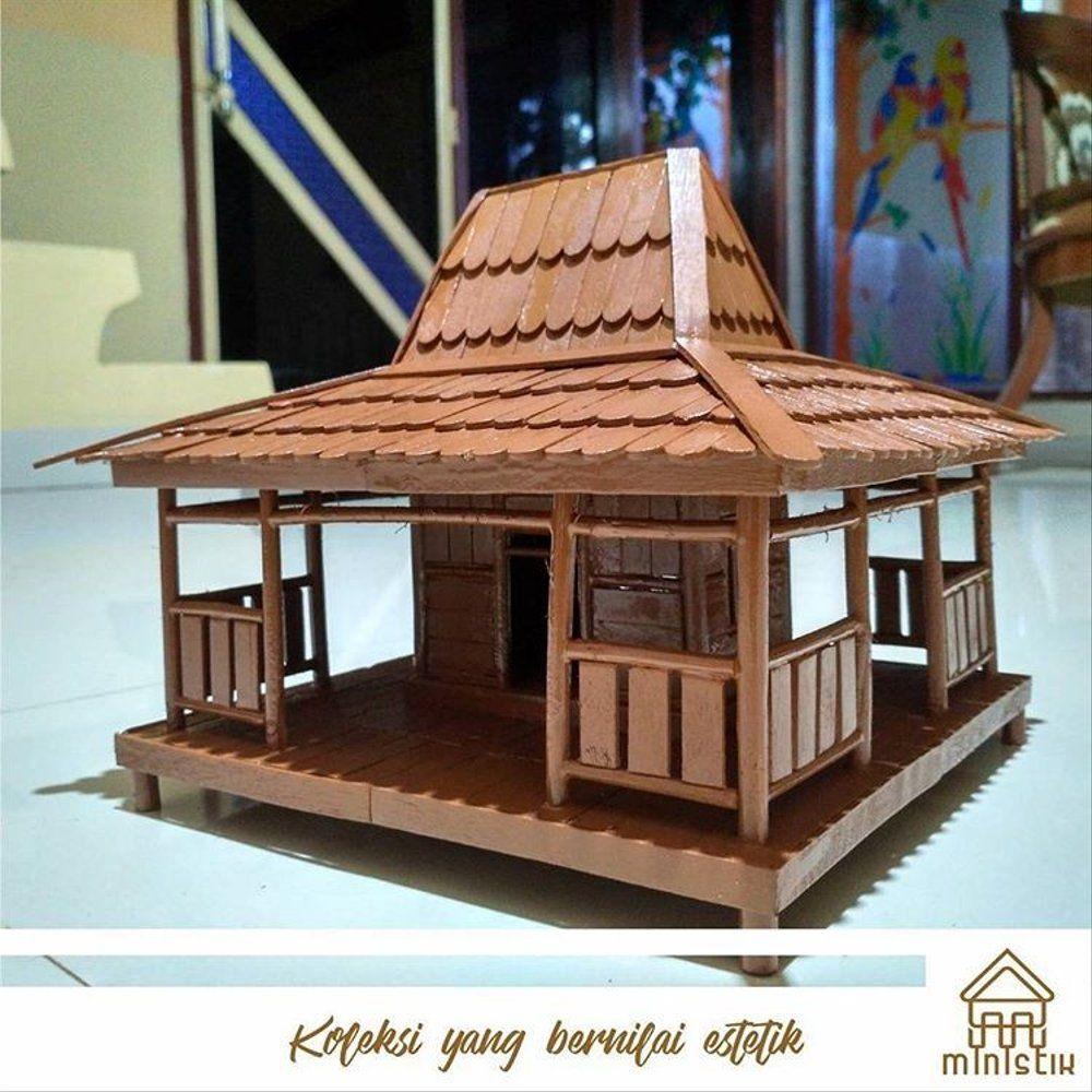 67 Gambar Rumah Adat Terbuat Dari Stik Es Gratis Terbaru Rumah Interior Rumah Minimalis Rumah stik es cream