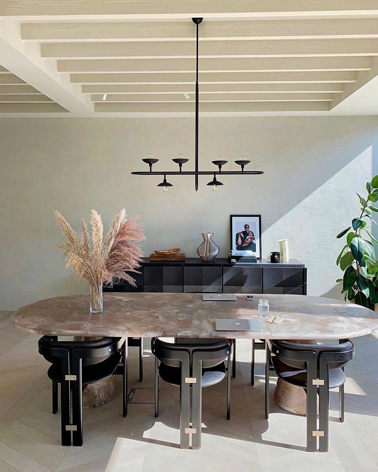#dinningroom #moderndesign #tan #marble #table modern livingroom