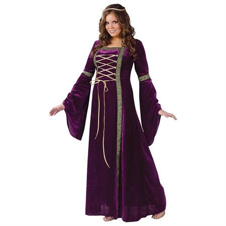 Renaissance Lady Adult Plus Halloween Costume - Rakuten.com