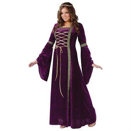 Renaissance Lady Adult Plus Halloween Costume - Rakuten.com