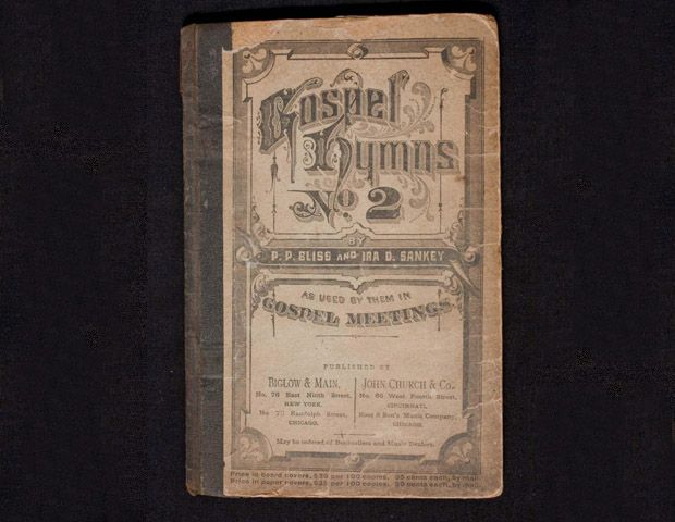 Image: Courtesy of the Smithsonian Institution    Harriet Tubman's Hymm Book, c. 1876 Gospel Hymns No.2, by P.P.Bliss and Ira D. Sankey