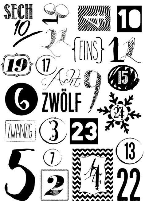 3, 2, 1, Adventskalender selbstgemacht #calendrierdelaventdiy