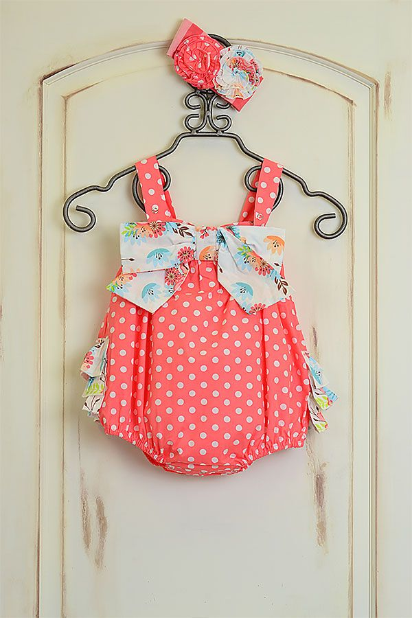 15d650bb6f12 Serendipity Dottie Bubble for Infants in Coral Ruffles (Size 9Mos ...