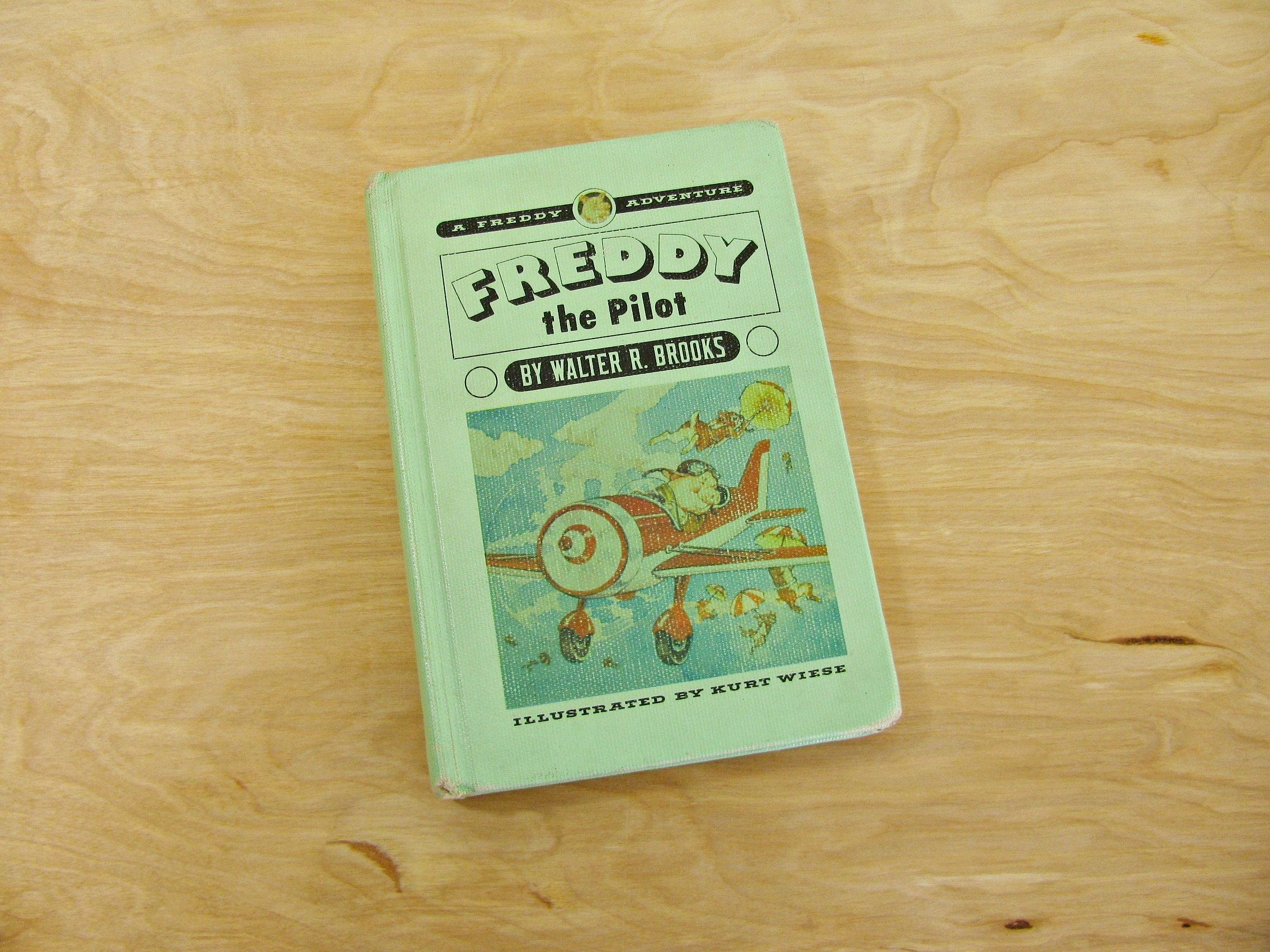 Vintage Children's Book Freddy The Pilot by Walter R Brooks Freddy The Pig A Freddy Adventure Green Book Pig Book Pilot Book by HipCatRetroVintage on Etsy