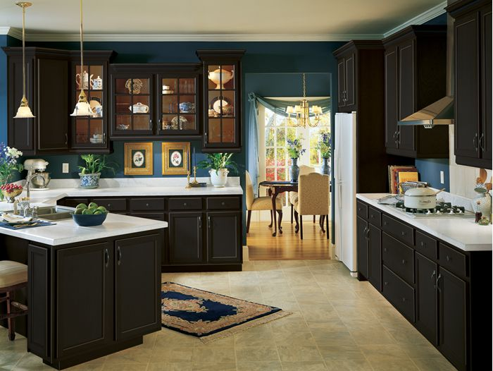Armstrong Kitchen Cabinet With Classic Onyx Finish Decorations And  Inspirations Design For Beau.