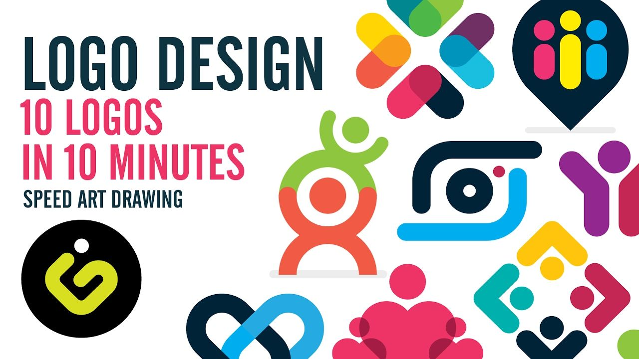 Logo Design 10 Simple Logos In 10 Minutes Logo Design Logo Design Tutorial Cool Logo