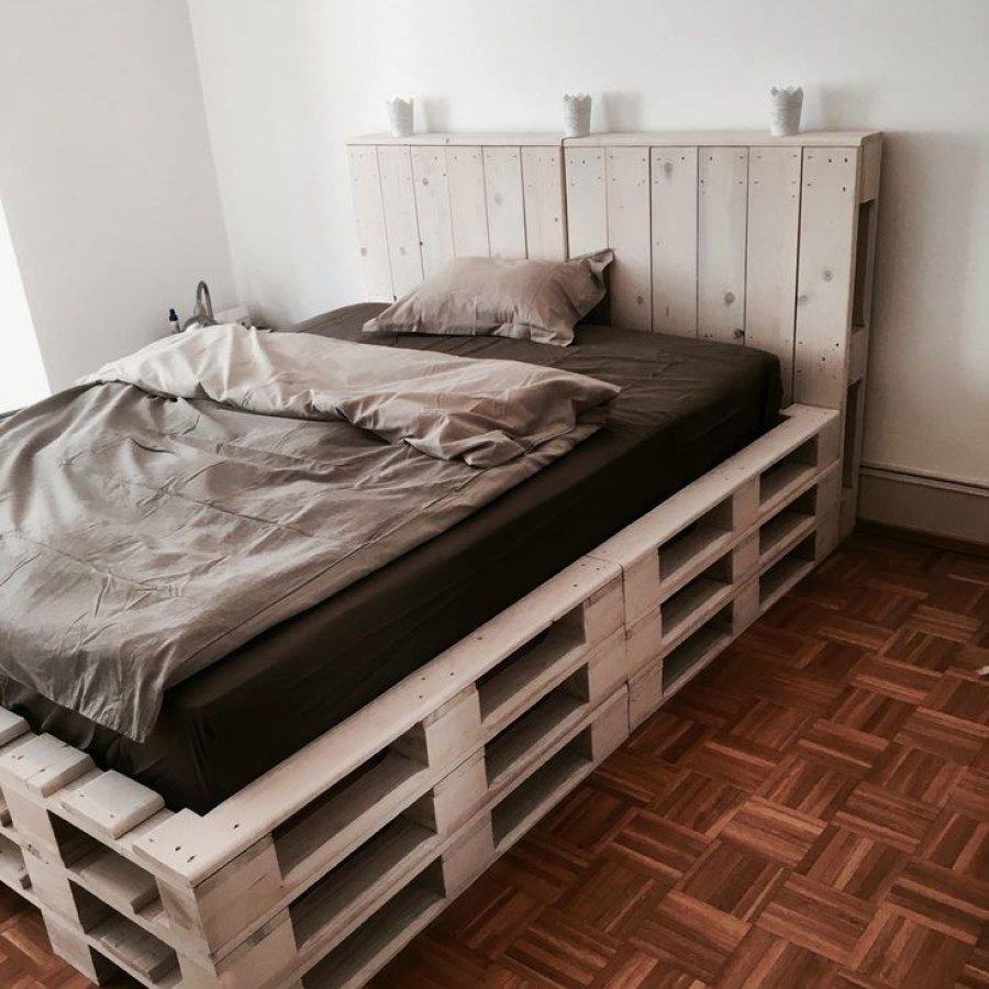 12 Easy Pallet Style Bedroom Furniture Ideas You Can Do To Update Your Bedroom Style Pallet Bedroom Pallet Furniture Bedroom Diy Pallet Bed Wooden Pallet Beds
