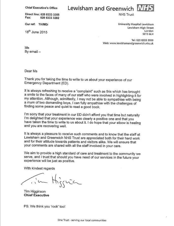 You Need To See This Nhs Complaint Letter