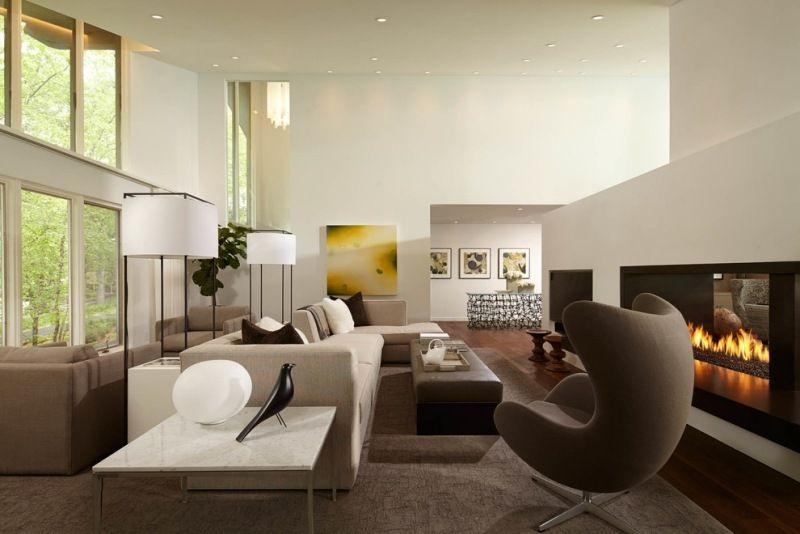 feng shui couleurs canap blanc avec chemine intrieur pour le salon interiordecorstylesfengshui