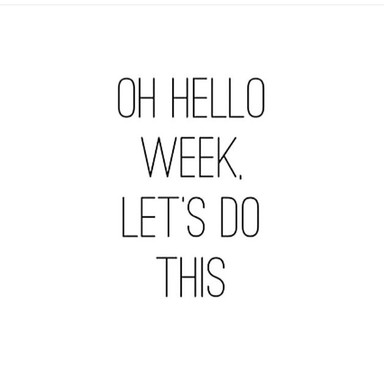 Hello week! Letu0027s do this! #countdowntillthebigstep! ¡quotes - Branding Quotation