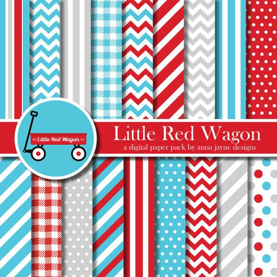 Little Red Wagon  Radio Flyer Inspired  by AnnaJayneDesigns, $5.00