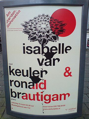poster in the city of Amsterdam: isabelle van keulen & ronald brautigam on Flickr - Photo Sharing!