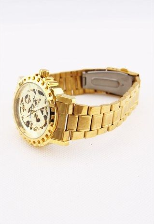 LUXURY GOLDEN MECHANICAL AUTOMATIC WATCH WA072